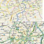 まだまだ小さい上海 東京と地図で比較