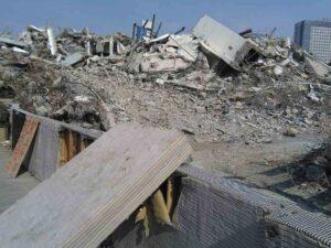 壊された古い住居