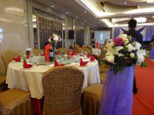 上海での婚礼会場の様子