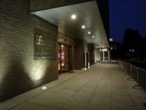 上海交響楽団音楽庁(ホール)の入り口