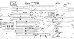 1993年当時の路線図だがほとんど変わっていない。 引用元:http://senrohaisenzu.cocolog-nifty.com/blog/2010/10/post-8fd3.html