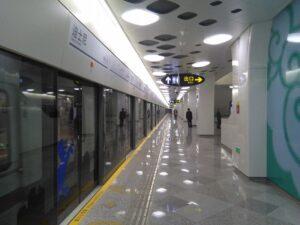 上海ディズニー駅ホーム