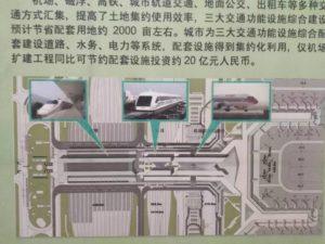 虹橋枢紐の配置図