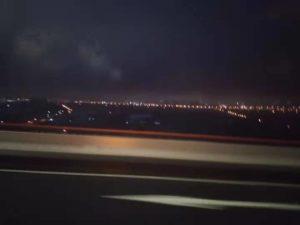 上海の街の灯り