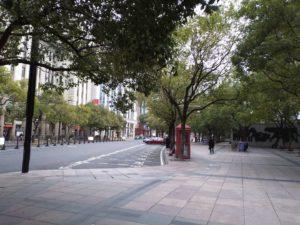 人民広場駅付近