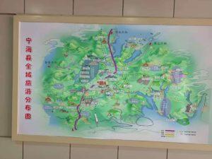 寧海県の観光地図