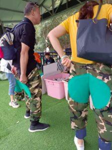 梁皇山滑り台の補強ズボン