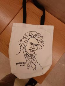 ベートーベンのショッピングバック