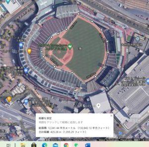 広島スタジアムのグラウンド全体