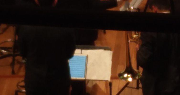 Ipadを楽譜に使っていた奏者